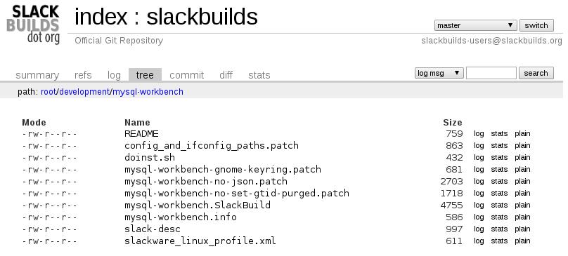 MySQL WorkBench slackbuilds